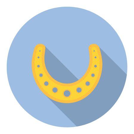 talisman: Estilo Herradura afortunada Talisman Símbolo plana Diseño