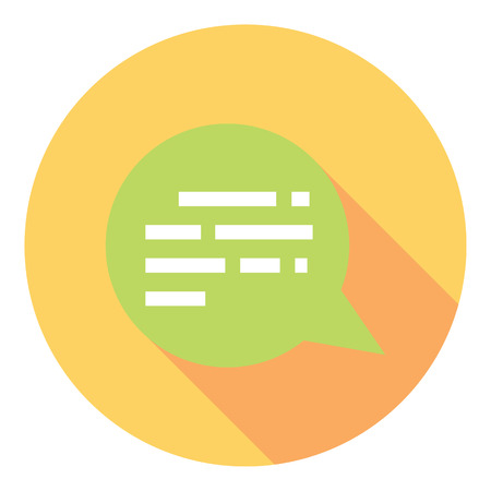 Chat Speech Bubble Symbol Flat Style Design