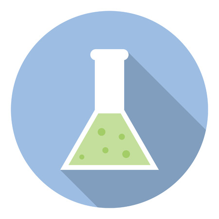 drug test: Science Laboratory Flask Glassware Research And Chemistry Equipment