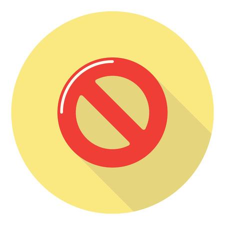 interdiction: Non autorisés Interdiction Warning Sign Illustration