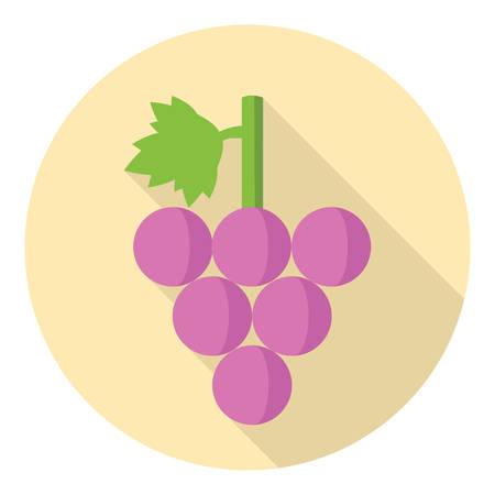 bunch: Sweet Grape Bunch Flat Design With Shadow