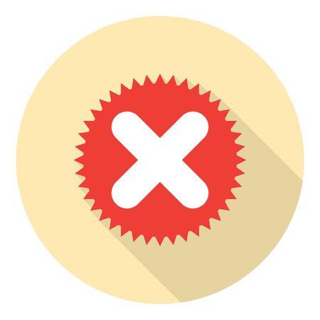 the decline: Decline Cross Sign Cancel Choise Button