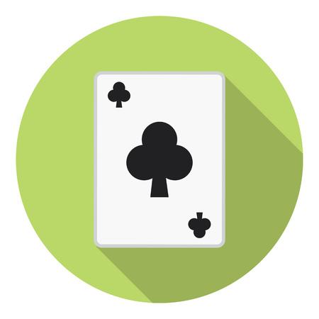Lesure Games Playing Card Club Suit Symbol Illustration