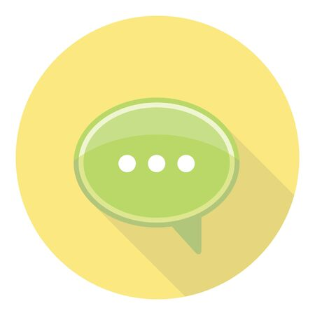 speech buble: Speech Bubble Communication And Dialog Chat Icon Illustration