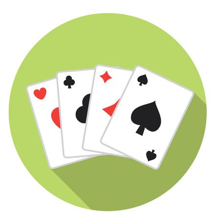 cards deck: Casino Playing Cards Deck Flat Style Design