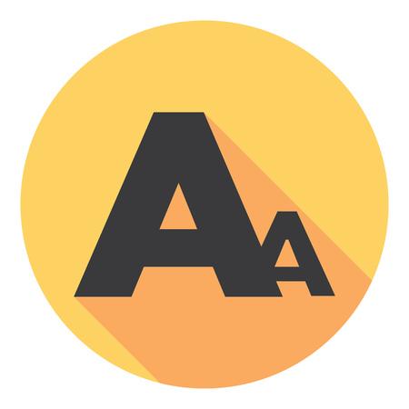 larger: Font Type Letter Symbol Flat Style Design Illustration
