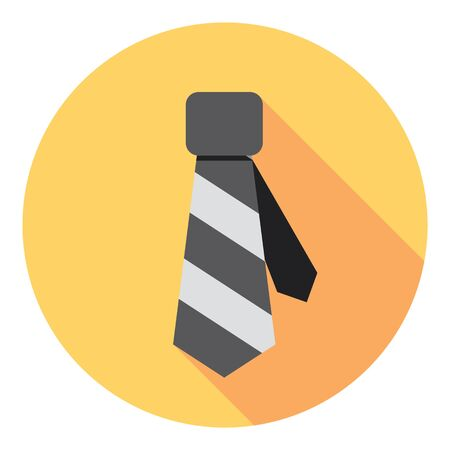 necktie: Necktie Elegance Clothing Accessory Flat Style Design Illustration