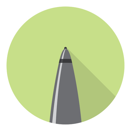ballpoint: Office Ballpoint Pen Tool Flat Style Design Illustration