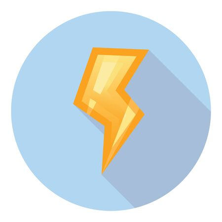 electric power: Lightning Electric Power Energy And Warning Symbol