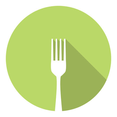silverware: Kitchen Fork Silverware Symbol Flat Style Design