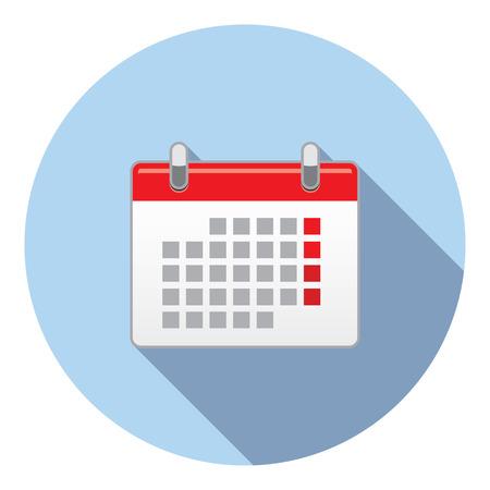 calendar page: Calendar Event Schedule Page Flat Style Design Illustration