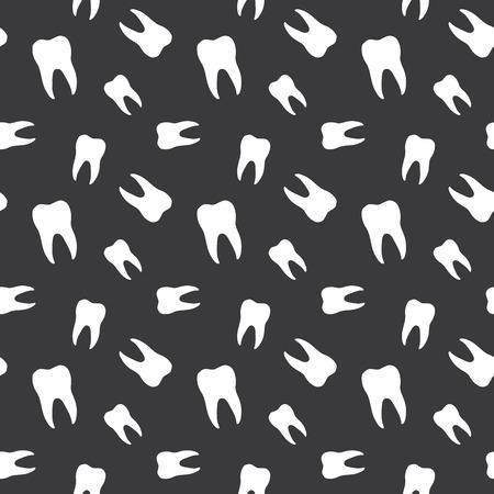 hygienist: Seamless Teeth Dental Pattern Background Illustration