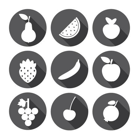 fruit and veg: Fruit Sweet Icons Monochrome Series