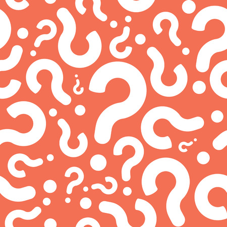Seamless Question Mark Mystery Pattern Background