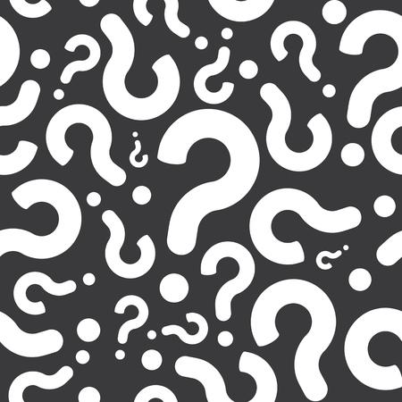 Naadloos Vraagteken Achtergrond van het Patroon