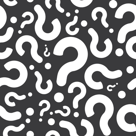 Seamless Question Mark Pattern Background Illustration