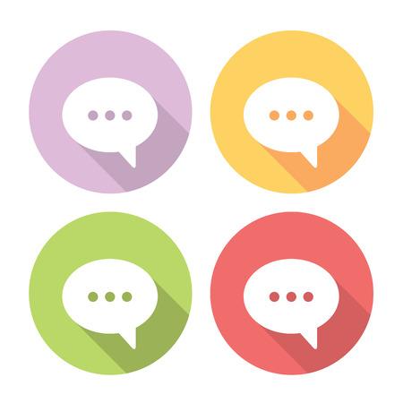 buble: Speech Bubble Flat Style Design Chat Icons Set