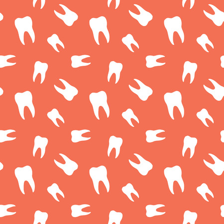 hygienist: Seamless Molar Teeth Dental Pattern Background