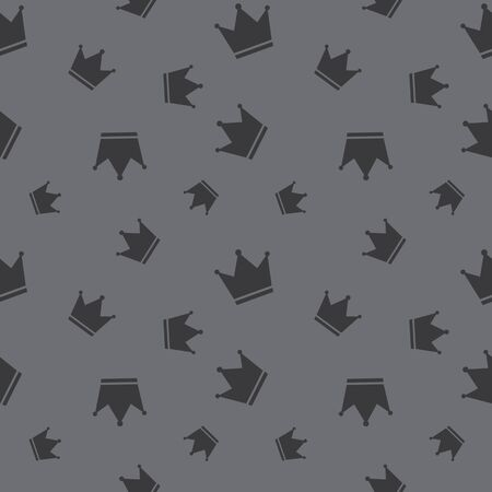 the attribute: Seamless Crown King Attribute Background Pattern Illustration