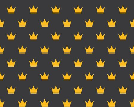 royal background: Seamless Golden Crown Royal Attribute Background Pattern