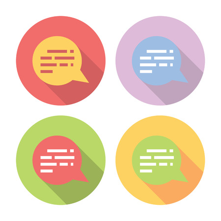 chat room: Chat Speech Bubble Flat Style Design Icons Set