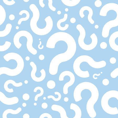 Seamless Question Mark Faq Sfondo Pattern
