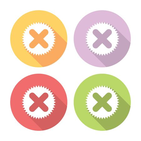 choise: Cancel Button Flat Style Design Icons Set