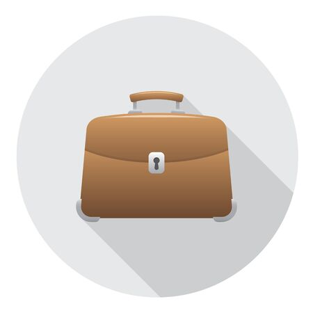 accessory: Briefcase Business Accessory Flat Style Design Icon