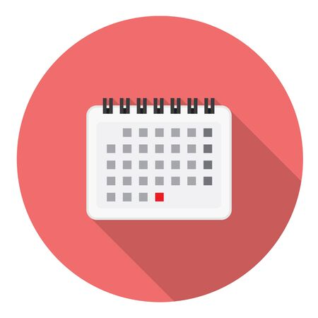 calendar page: Calendar Reminder Page Flat Style Design Icon