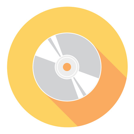 compact disk: Compact Disk Flat Style Design Icon