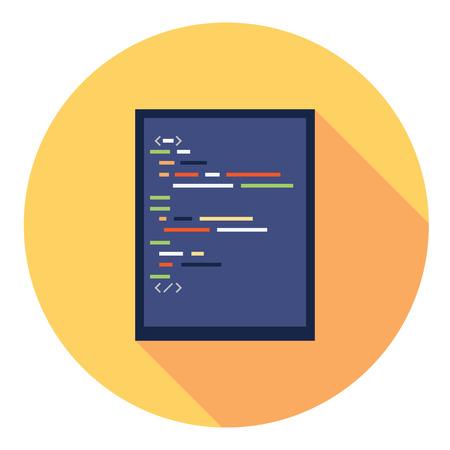 editor: Code Editor Flat Style Design Icon