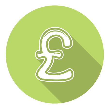 britain: Great Britain Pound Flat Style Design Icon Illustration