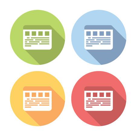 page layout: Web Page Layout Flat Style Design Icons Set