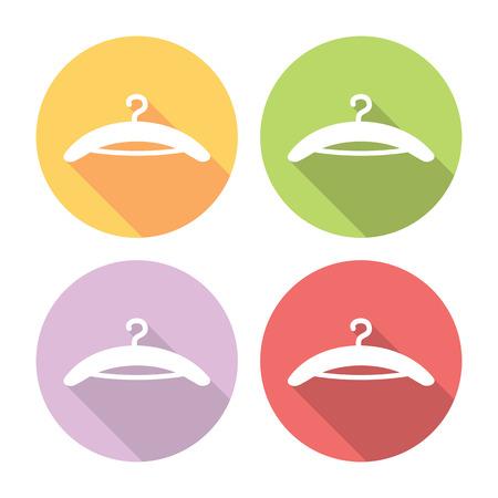 clothing rack: Clothes Shoulder Flat Style Design Icons Set Illustration