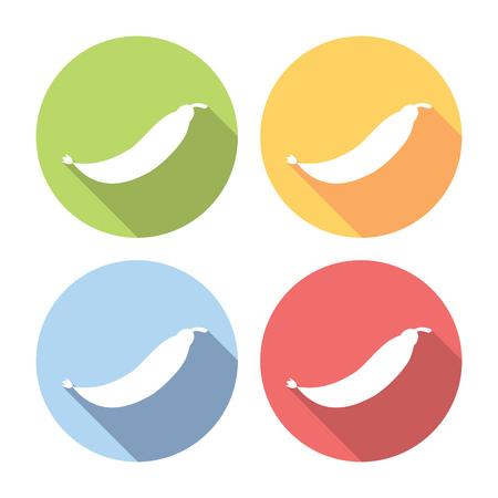 pod: Peas Pod Flat Style Design Icons Set