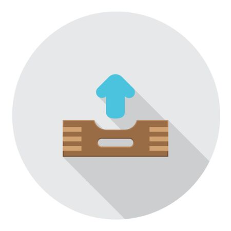outbox: Outbox Files FLat Style Design Icon Illustration