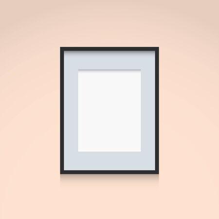 vertical orientation: Photo Frame Interior Decoration Template Vertical Orientation Illustration