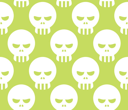 dire: Seamless Halloween Human Skeleton Skull Pattern Background
