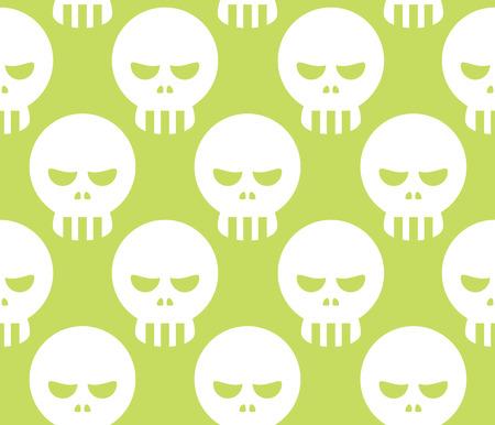 dire: Seamless Halloween Human Skeleton Skull Pattern Background