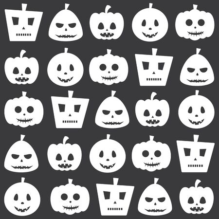 fearsome: Seamless Halloween Decorative Scary Pumpkin Pattern Background