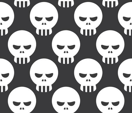 dire: Seamless Human Skeleton Skull Decorative Pattern Background
