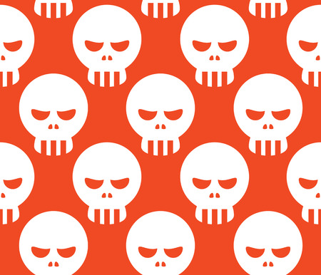 dire: Seamless Human Head Skull Decorative Pattern Background
