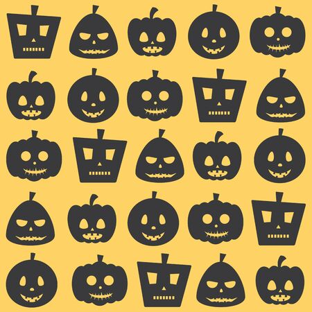 fearsome: Seamless Halloween Celebration Scary Pumpkin Pattern Background