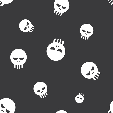 dire: Seamless Human Skull Halloween Celebration Pattern Background Illustration