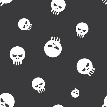 dire: Seamless Human Skull Halloween Celebration Pattern Background Illustration