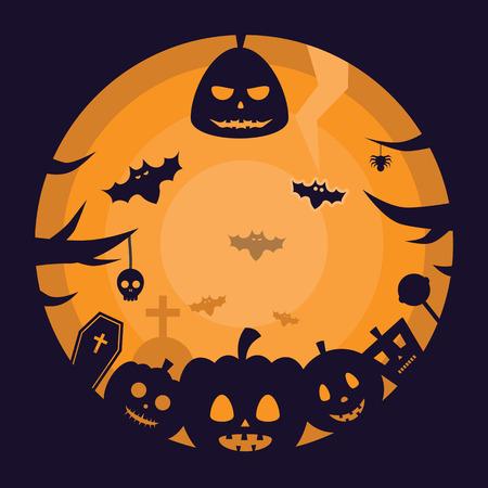 celebration background: Halloween Celebration Night Party Scary Silhouette Background