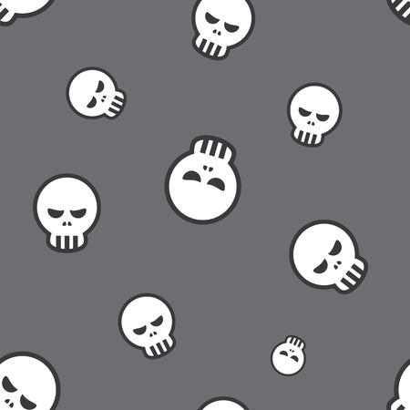 dire: Seamless Skull Halloween Celebration Decorative Pattern Background