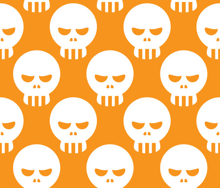 fearsome: Seamless Evil Human Skull Decorative Pattern Background
