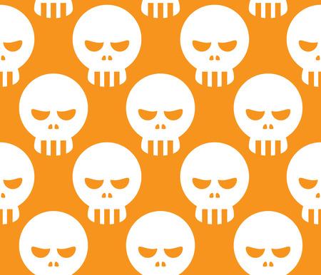 dire: Seamless Evil Human Skull Decorative Pattern Background