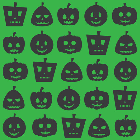 dire: Seamless Halloween Party Scary Pumpkin Pattern Background